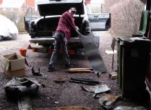 012. Urstädning innan garageringen på museet