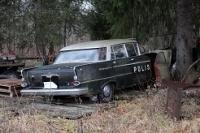 Opel Kapitän på fyndplatsen i Malung