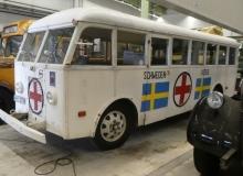 En av de Vita bussarna som Röda korset använde under andra världskriget